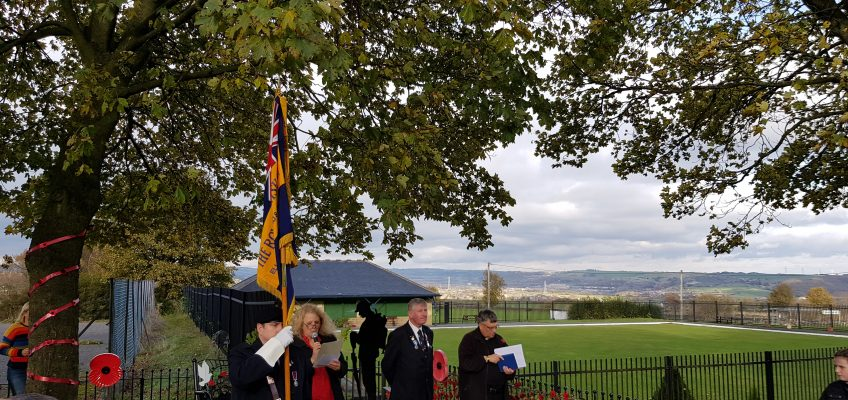 World War 1 Memorial Service, Stainland,